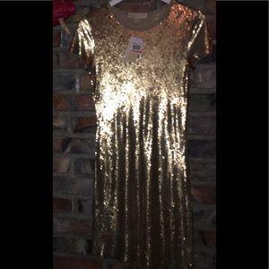 Michael Michael Kors gold sequin dress.